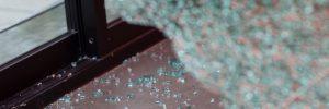 window smashed by burglars
