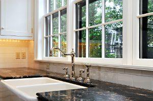 double glazing above kitchen sink
